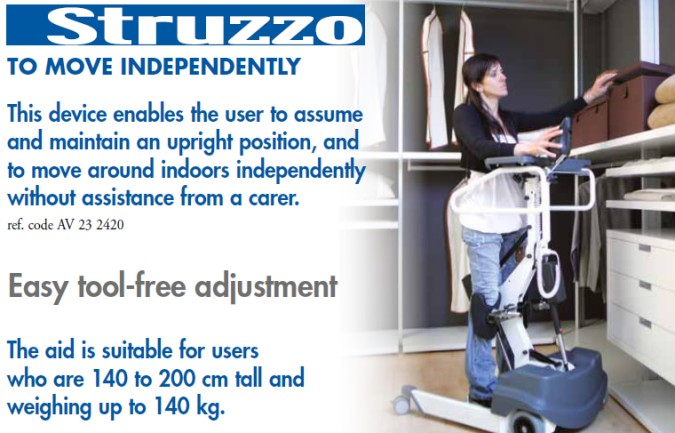 STRUZZO Standing Frame helping you move independently